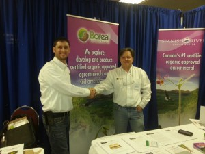 Marc with CEO of Boreal Agrominerals John Slack at Eco Farm Day 2012, in Cornwall, ON